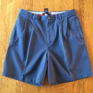 EUC Tommy Hilfiger Blue  Pleated Chino Shorts | 34